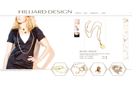 hilliarddesign.com - Flash based website featuring content management system (CMS) and shopping cart